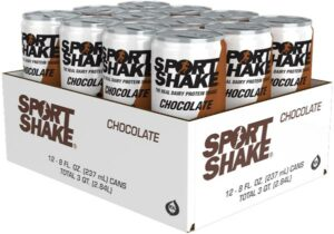 Case of 12 - 8oz Cans - Chocolate Sport Shake