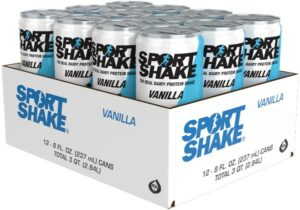 Case of 12 - 8oz Cans - Vanilla Sport Shake