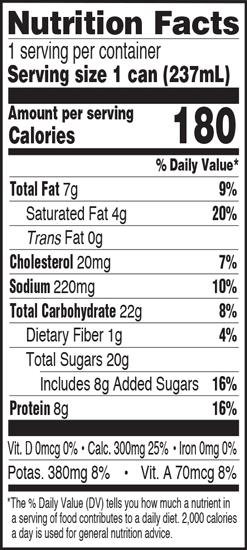 Nutrition Information - Strawberry 8oz
