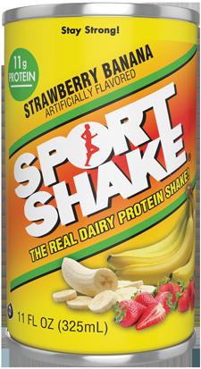 Fraise banane Sport Shake