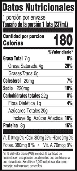 Information nutritionnelle